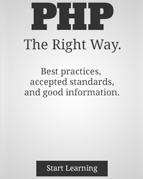 PHP: The Right Way