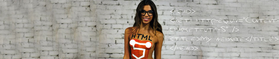 HTML5-Painted-On-Cute-Girl